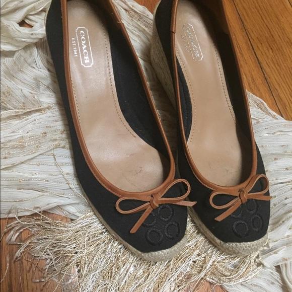 17f0d27d441 Coach Shoes - Women s vintage coach wedge shoes size 8